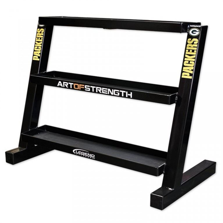 short three-tier kettlebell rack