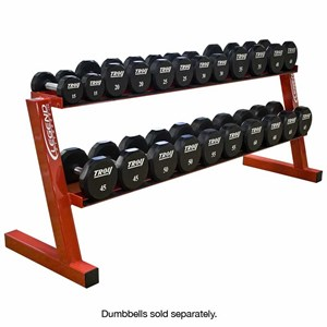 ten pair hex head dumbbell rack