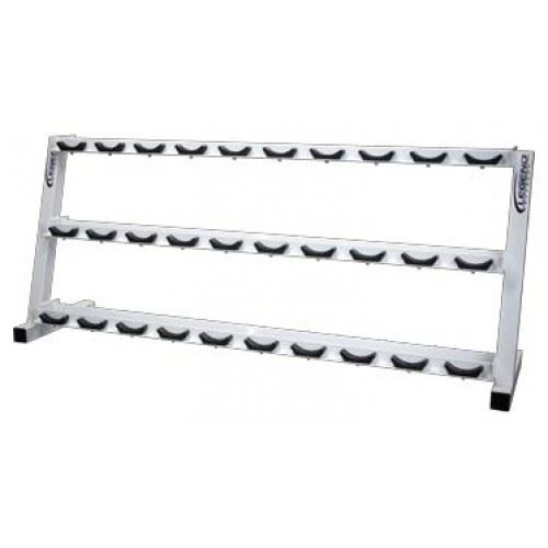 three-tier pro style dumbbell rack
