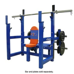 olympic shoulder bench with plate storage
